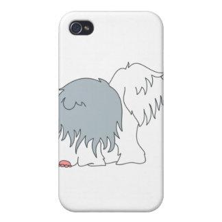 Perro pastor Bobtail iPhone 4/4S Carcasa