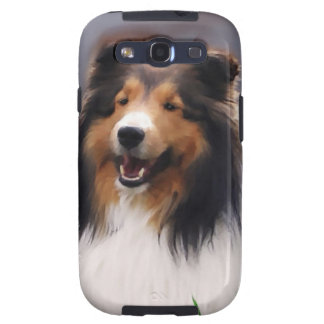 Perro pastor de Shetland arte de Sheltie Galaxy S3 Carcasa