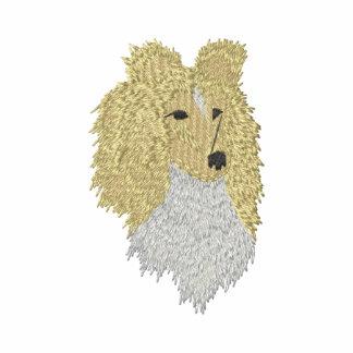 Perro pastor de Shetland Sudadera Bordada Con Capucha