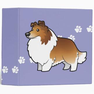 Perro pastor de Shetland del dibujo animado collie