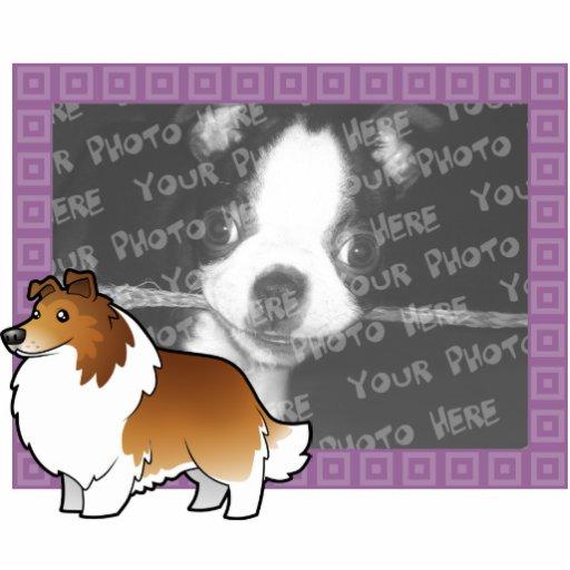 Perro pastor de Shetland del dibujo animado/collie Esculturas Fotograficas