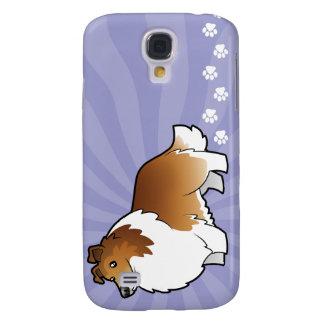 Perro pastor de Shetland del dibujo animado/collie Samsung Galaxy S4 Cover