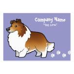 Perro pastor de Shetland del dibujo animado/collie Tarjetas De Visita
