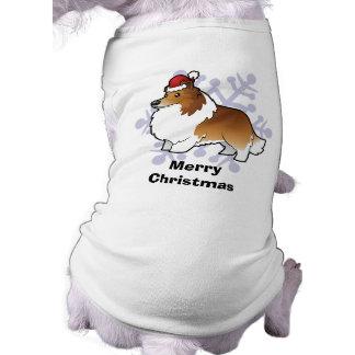 Perro pastor de Shetland del navidad/collie Camisa De Perro