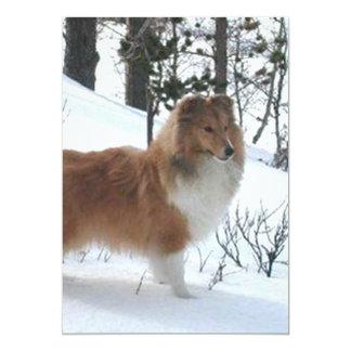 "perro pastor de Shetland full.png Invitación 5"" X 7"""