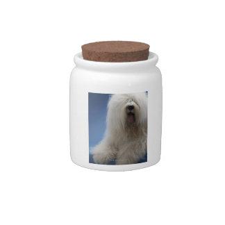 Perro pastor jarras para caramelos