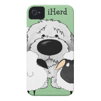 Perro pastor - iHerd iPhone 4 Case-Mate Cobertura
