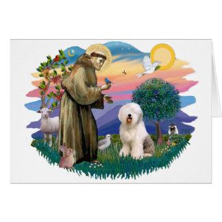 Perro pastor inglés viejo (#6) tarjeta