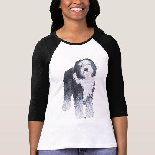 Perro pastor inglés viejo camisetas