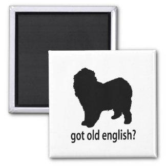 Perro pastor inglés viejo conseguido imanes para frigoríficos