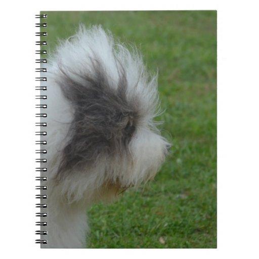 Perro pastor inglés viejo dulce notebook