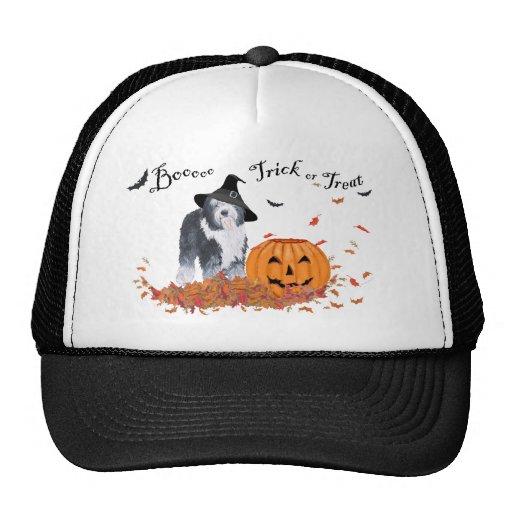 Perro pastor inglés viejo Halloween Gorras