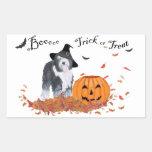 Perro pastor inglés viejo Halloween Rectangular Pegatina