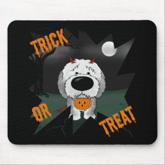 Perro pastor inglés viejo Halloween Tapetes De Raton