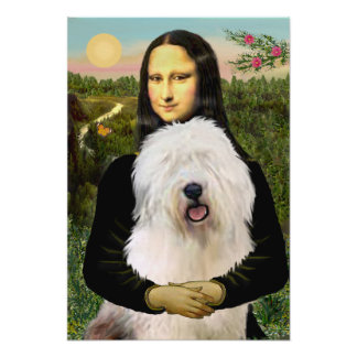 Perro pastor inglés viejo - Mona Lisa Impresiones