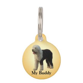 Perro pastor mullido grande placas de mascota