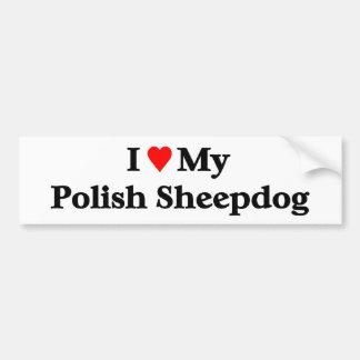 Perro pastor polaco pegatina para auto