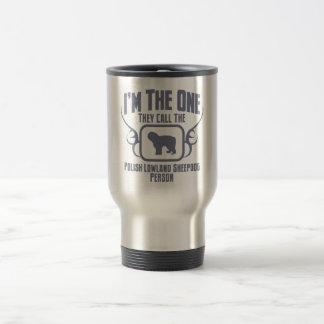 Perro pastor polaco de la tierra baja taza térmica