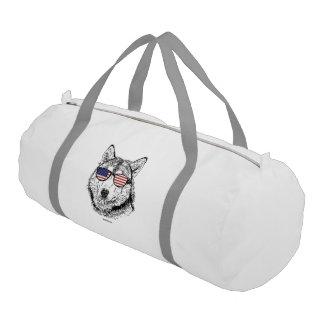 Perro patriótico bolsa de deporte
