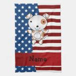 Perro patriótico conocido personalizado toalla
