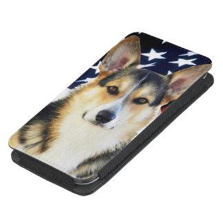 Perro patriótico del Corgi Galés Bolsillo Para Galaxy S4