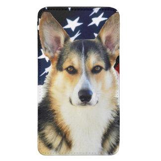 Perro patriótico del Corgi Galés Funda Para Galaxy S5
