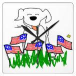 Perro patriótico relojes