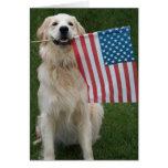 Perro patriótico tarjeton