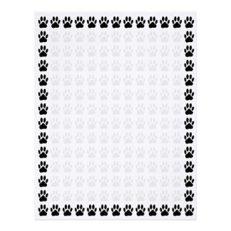 Perro Pawprint Plantillas De Membrete