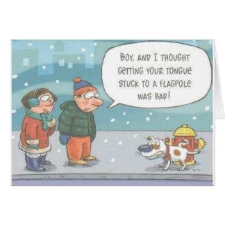 Perro pegado en tarjeta de felicitación de Hidrant