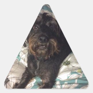 Perro Pegatina Triangular
