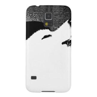 Perro peludo hermoso del blanco del samoyedo carcasas de galaxy s5