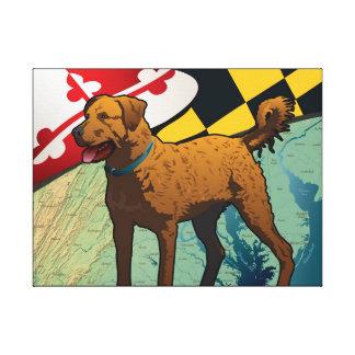 Perro perdiguero de bahía de Chesapeake de Marylan Impresión En Tela