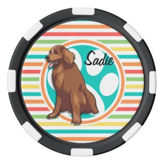 Perro perdiguero de bahía de Chesapeake; Rayas Fichas De Póquer