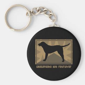 Perro perdiguero de bahía de Chesapeake terroso Llavero Redondo Tipo Pin