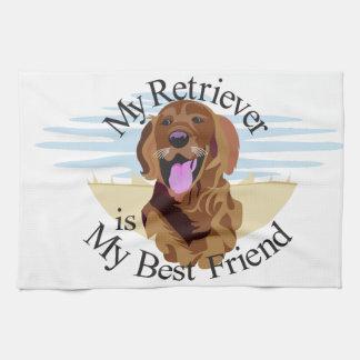 Perro perdiguero del mejor amigo toalla de cocina