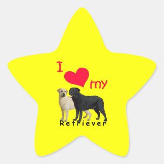 Perro perdiguero calcomania forma de estrella personalizadas