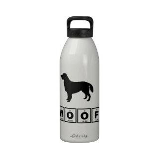 Perro perdiguero Plano-Revestido Botella De Agua Reutilizable