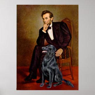 Perro perdiguero revestido plano 1 - Lincoln Póster