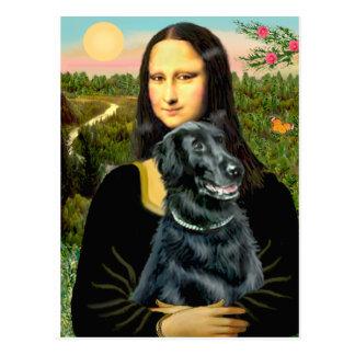 Perro perdiguero revestido plano 2 - Mona Lisa Postales