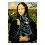 Perro perdiguero revestido plano 2 - Mona Lisa Tarjeta