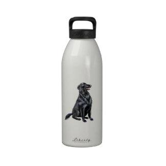Perro perdiguero revestido plano b botella de agua reutilizable