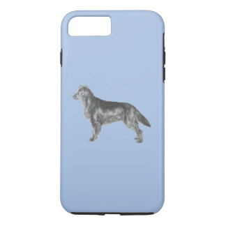 Perro perdiguero revestido plano funda iPhone 7 plus