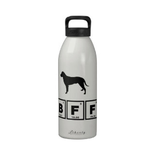 Perro perdiguero revestido rizado botella de agua