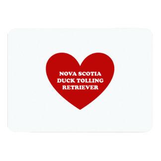 """Perro perdiguero tocante del pato de Nueva Escocia Invitación 5"""" X 7"""""""