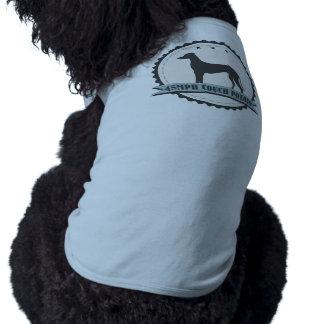 Perro perezoso jubilado galgo del corredor 45mph camisa de perrito