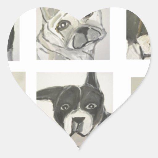 perro, perros, mascotas, ginsburg de eric, pegatina en forma de corazón