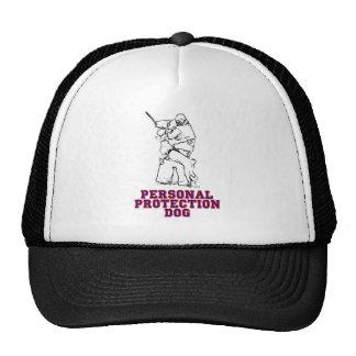Perro personal de la protección gorras