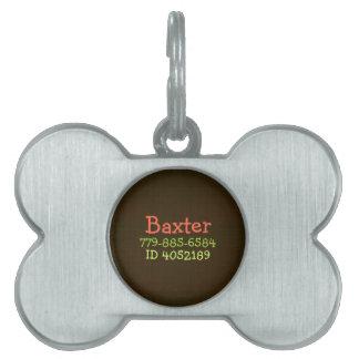 Perro personalizado arpillera de la identificación placas de nombre de mascota