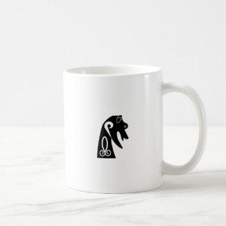 Perro picto taza de café